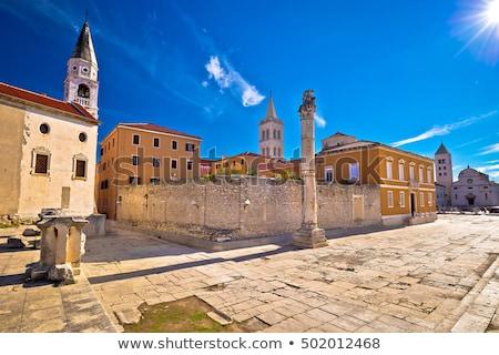 Panorâmico ver fórum Croácia igreja edifício Foto stock © borisb17