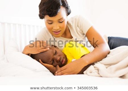 печально мало афроамериканец девушки прикасаться лоб Сток-фото © dolgachov