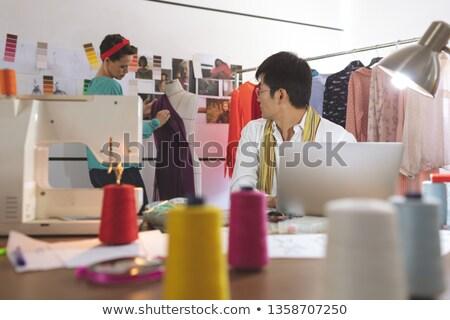 мнение азиатских мужчины моде дизайнера Сток-фото © wavebreak_media