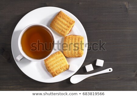 Shortbread biscuits and tea Stock photo © grafvision