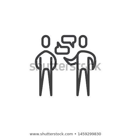 Dialog dwie osoby ikona wektora ilustracja Zdjęcia stock © pikepicture