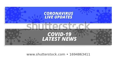 Koronawirus szeroki banner wiadomości zdrowia komórek Zdjęcia stock © SArts