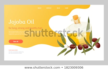 Informations pétrolières liquide verrerie or branche Photo stock © robuart