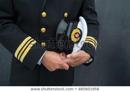Crociera uniforme capo nave illustrazione arte Foto d'archivio © jossdiim