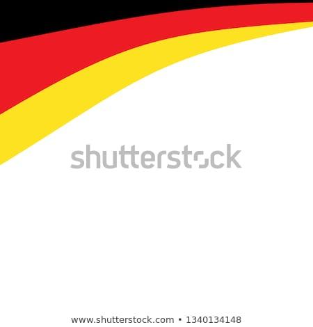 Almanya bayrak beyaz kalp dünya fırçalamak Stok fotoğraf © butenkow