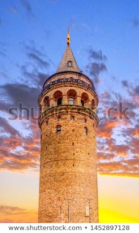 Kule İstanbul Türkiye Cityscape altın Stok fotoğraf © bloodua