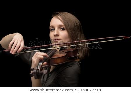 Apaixonado feminino músico jogar barroco violino Foto stock © Giulio_Fornasar
