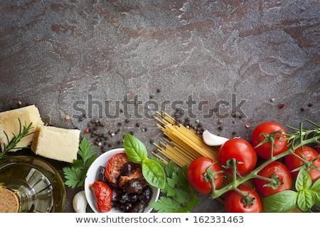 итальянской кухни базилик Пельмени грибы пармезан моцарелла Сток-фото © Melnyk