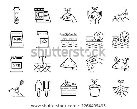 почвы науки икона вектора иллюстрация Сток-фото © pikepicture