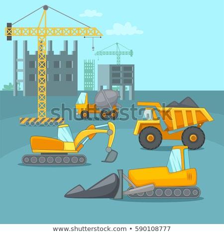 Cartoon Welder at a Construction Site Stock photo © Voysla