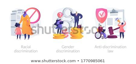 Polgári jogok absztrakt vektor illusztrációk szett faji Stock fotó © RAStudio