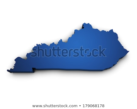 Blauw Kentucky kaart abstract Stockfoto © lirch