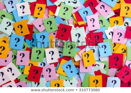 Colorido signos de interrogación preguntas la toma de decisiones incertidumbre Foto stock © bbbar