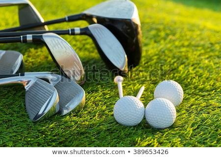 гольф · оборудование · мяча · гольф · Солнечный · пейзаж - Сток-фото © photocreo