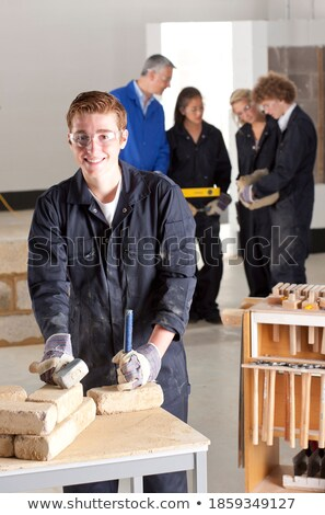 Full-length shot of a bricklayer Stock photo © photography33