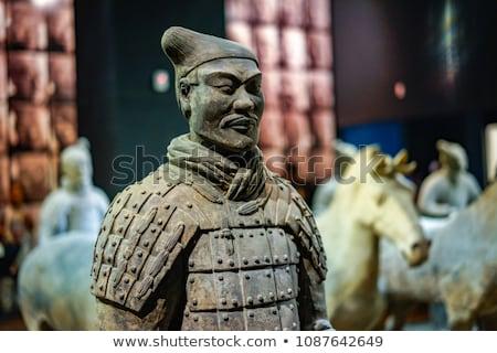 Воины Китай известный лице искусства мужчин Сток-фото © jeayesy