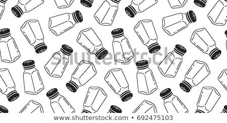 Pepper and salt shaker Stock photo © karandaev