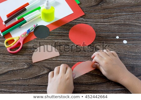 два · лист · бумаги · дыра · черный · аннотация - Сток-фото © carenas1
