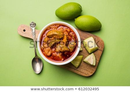 インド 漬物 ボウル 食品 フルーツ ストックフォト © zkruger