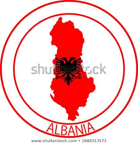Albania rosette flag Stock photo © milsiart