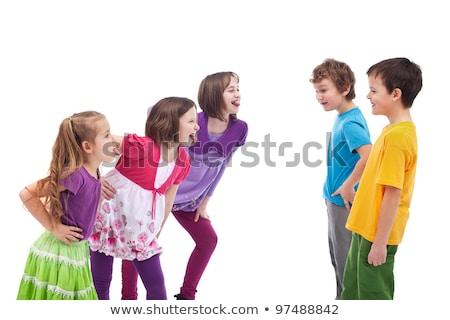 Gyerekek gúny egyéb lányok fiúk külön Stock fotó © ilona75