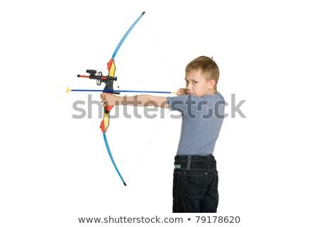 Gyerek lövöldözés íj nyíl játék lefelé Stock fotó © ilona75