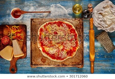 Pizzacı şef fırın gıda restoran sanayi Stok fotoğraf © photography33