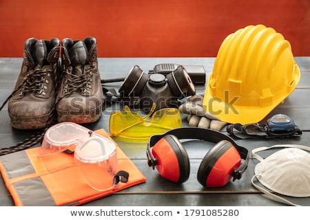 Worker wearing earmuffs Stock photo © photography33