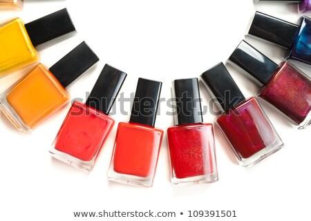 Coloured nail polish packed in a semicircle Stock photo © RuslanOmega