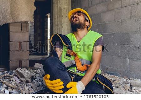 bouwvakker · vallen · werk · Blauw · werknemer · hoed - stockfoto © photography33