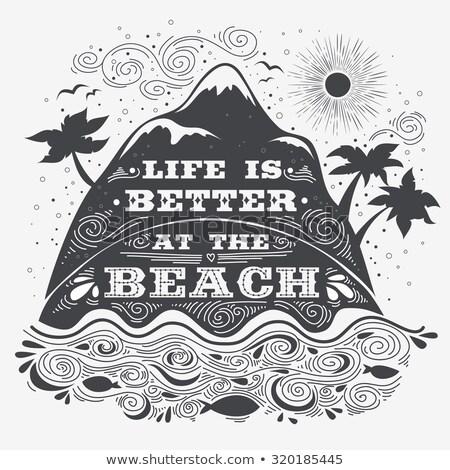 praia · palavra · escrito · praia · verão · assinar - foto stock © latent