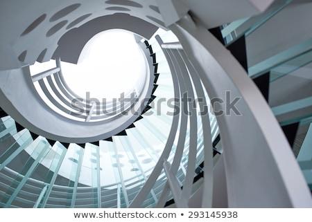 futuristische · moderne · glas · kantoor · gebouw - stockfoto © lunamarina