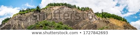 Salzig Hügeln Sommer Wasser Stein Fluss Stock foto © igabriela