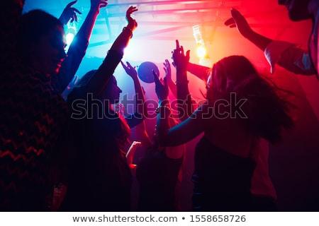 Groep jonge vrouwen muziek model glas Stockfoto © val_th