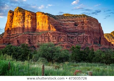 court house butte orange red rock canyon sedona arizona stock photo © billperry
