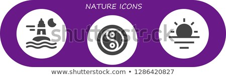 Symbol of climate balance in shape yin-yang Stock photo © smeagorl