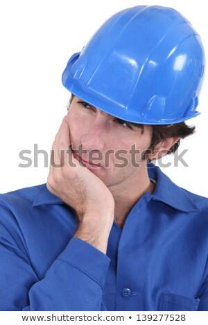 Stock fotó: építész · jó · gondolkodik · mi · következő · férfi
