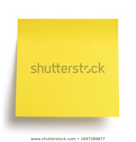 黄色 · 接着剤 · 注記 · 背景 · 孤立した - ストックフォト © wavebreak_media
