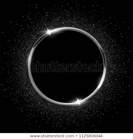抽象的な · メタリック · 銀 · サークル · フレーム · ベクトル - ストックフォト © christopherhall