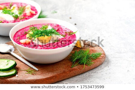 east european cold beetroot soup Stock photo © travelphotography