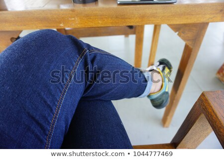 craftsman sitting on the floor cross-legged Stock photo © photography33