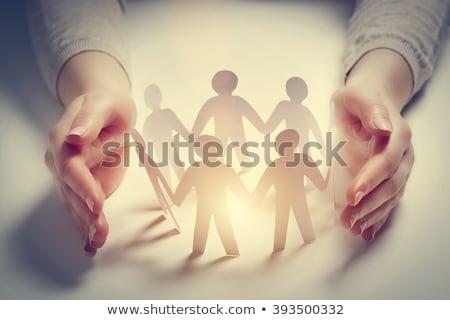 социальной равенство знак синий правосудия гонка Сток-фото © tashatuvango