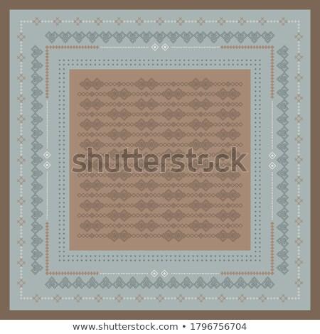 этнических орнамент вектора цветок текстуры аннотация Сток-фото © iktash