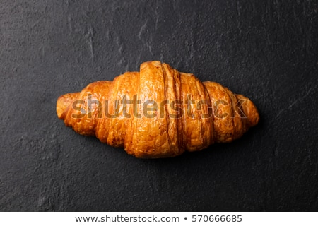 croissant · isolado · branco · trigo · café · da · manhã · alimentação - foto stock © badmanproduction