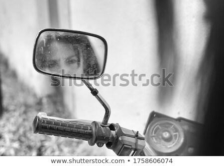 Motorcycle Mirror Stock photo © ArenaCreative