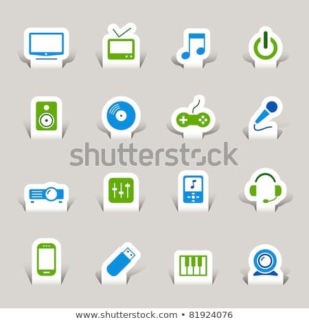 Vecteur icône cd joystick Photo stock © zzve