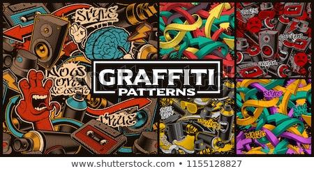 ingesteld · bladwijzers · stickers · grijs - stockfoto © allegro