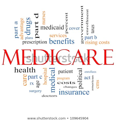 Medicare Word Cloud Concept with great terms such as health Stock photo © dacasdo
