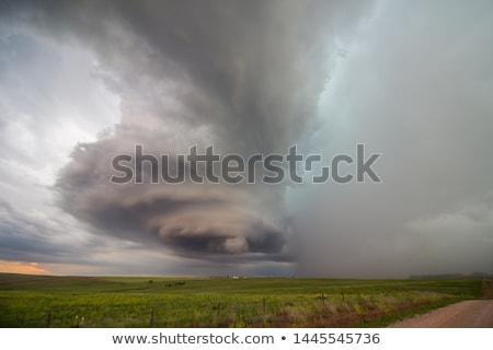gevaarlijk · storm · prairie · Wyoming · groot · USA - stockfoto © capturelight