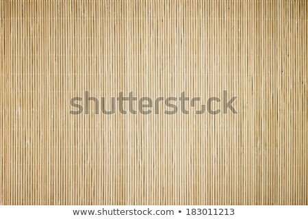 chopsticks  dishes on a bamboo floor Stock photo © Gloszilla
